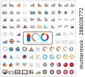 100 charts diagrams and... | Shutterstock .eps vector #288028772
