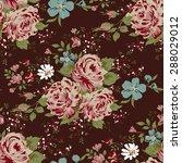 wallpaper seamless vintage pink ... | Shutterstock .eps vector #288029012