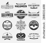 happy halloween design... | Shutterstock .eps vector #288031688