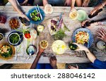 food beverage party meal drink... | Shutterstock . vector #288046142