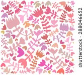vector cute floral pattern... | Shutterstock .eps vector #288046652