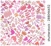 vector cute floral pattern... | Shutterstock .eps vector #288046652