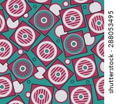 saturated geometric pattern in ... | Shutterstock .eps vector #288053495