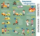 details of business insurance...   Shutterstock .eps vector #288063272