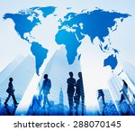 world global cartography... | Shutterstock . vector #288070145