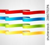vector ribbons set | Shutterstock .eps vector #288070196