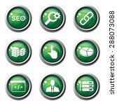 seo internet sign green vector... | Shutterstock .eps vector #288073088