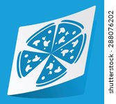 sticker with pizza icon ...