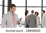 potrait of a smiling...   Shutterstock . vector #28808830
