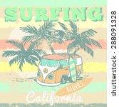 california surf typography  t...   Shutterstock .eps vector #288091328