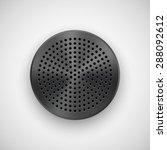 black abstract circle badge ...