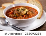 hot stew with mushrooms | Shutterstock . vector #288093296