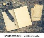 Open Book  Antique Writing...