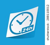 sticker with 24h work hours...