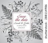 vintage elegant wedding... | Shutterstock .eps vector #288114986