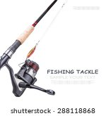 Fishing Tackle Isolated On...