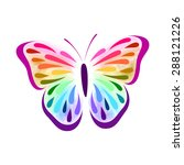 butterfly   Shutterstock .eps vector #288121226