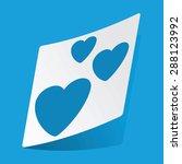 sticker with three hearts ...