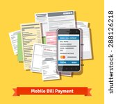 online mobile smartphone bill... | Shutterstock .eps vector #288126218