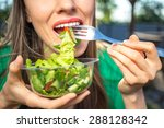 portrait of attractive... | Shutterstock . vector #288128342