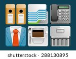 set of office icons | Shutterstock .eps vector #288130895