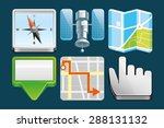 set of location icons | Shutterstock .eps vector #288131132