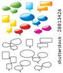 speech bubbles. please check my ... | Shutterstock .eps vector #28813426