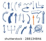 hand drawn vector arrows set.... | Shutterstock .eps vector #288134846