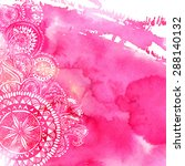 pink watercolor paint... | Shutterstock .eps vector #288140132