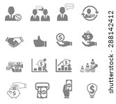 vector icon business  finance... | Shutterstock .eps vector #288142412