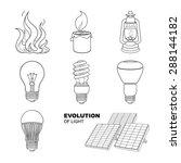 Evolution Of Light. Vector...