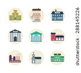 color government buildings... | Shutterstock .eps vector #288145226