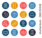 household appliances icon set | Shutterstock .eps vector #288150338