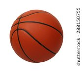 Basketball Isolated On A White...