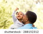 african american father and... | Shutterstock . vector #288152312