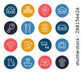 real estate icon set   Shutterstock .eps vector #288156626