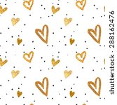 seamless pattern in the gold... | Shutterstock .eps vector #288162476