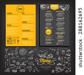 restaurant cafe menu  template... | Shutterstock .eps vector #288162695