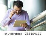 closeup portrait  dumbfounded ... | Shutterstock . vector #288164132