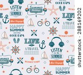 newspaper style summer... | Shutterstock .eps vector #288169202