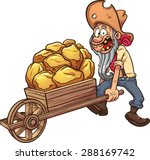 cartoon miner with a... | Shutterstock .eps vector #288169742