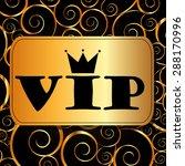 vip card design  vector... | Shutterstock .eps vector #288170996