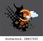 extreme grunge design | Shutterstock .eps vector #28817335