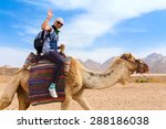 Young Caucasian Woman Tourist...