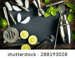 set of bar accessories and... | Shutterstock . vector #288193028