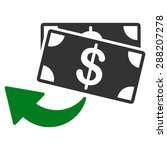 cashback icon from business... | Shutterstock . vector #288207278