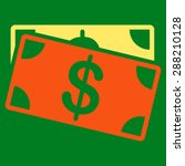 dollar banknotes icon from... | Shutterstock . vector #288210128
