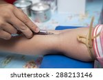 blood sampling with syringe and ... | Shutterstock . vector #288213146