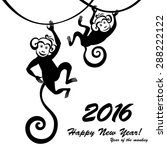 happy new year 2016. year of... | Shutterstock .eps vector #288222122