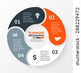 vector circle infographic.... | Shutterstock .eps vector #288229472